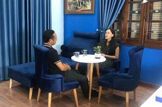 Anh Đào Mạnh Hùng trị liệu stress, căng thẳng, mệt mỏi tại NHC Việt Nam