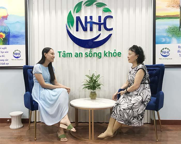 Cô Trần Thị Hà những ngày đầu đến tham vấn tại Trung tâm