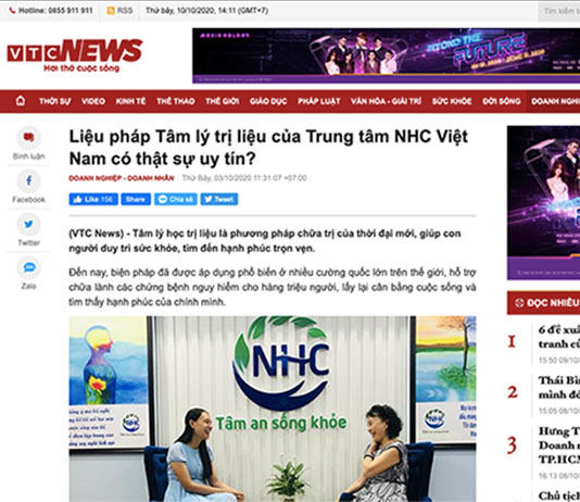 [VTC News] – Liệu pháp Tâm lý trị liệu của Trung tâm NHC Việt Nam có thật sự uy tín?