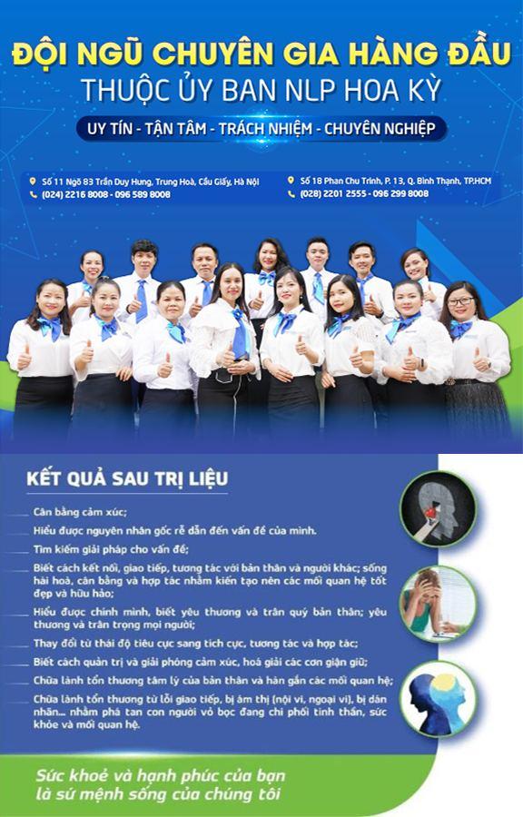 Cam kết hiệu quả trị liệu tại Trung tâm NHC Việt Nam