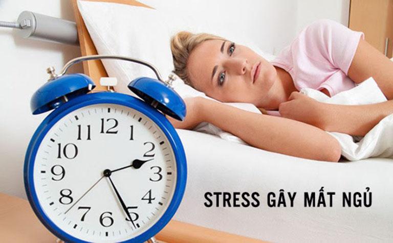 Căng thẳng stress gây mất ngủ