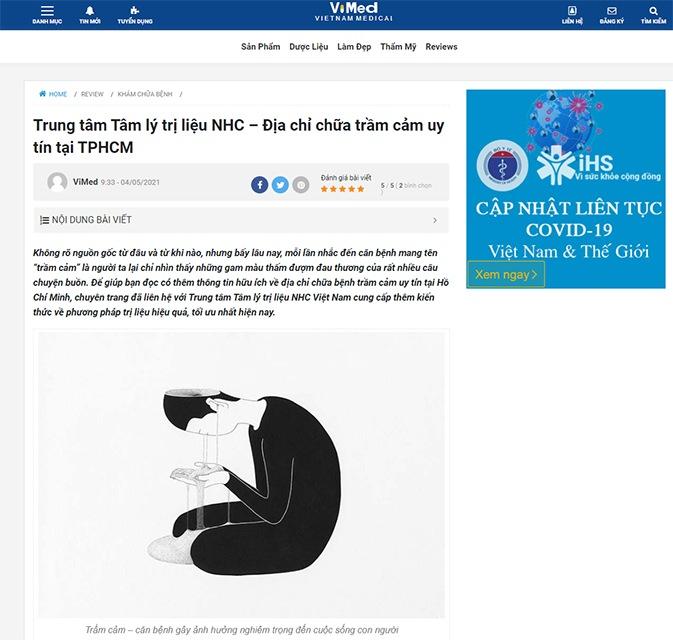 [ViMed] Trung tâm Tâm lý trị liệu NHC – Địa chỉ chữa trầm cảm uy tín tại TPHCM
