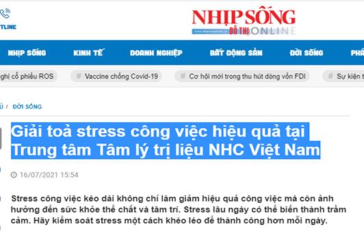 [Nhịp Sống Đô Thị] Giải toả stress công việc hiệu quả tại Trung tâm Tâm lý trị liệu NHC Việt Nam