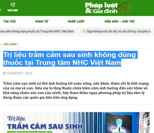 [Pháp Luật & Gia Đình] Trị liệu trầm cảm sau sinh không dùng thuốc tại Trung tâm NHC Việt Nam