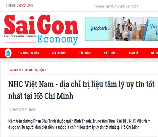 [Sài Gòn Economy] NHC Việt Nam - địa chỉ trị liệu tâm lý uy tín tốt nhất tại Hồ Chí Minh