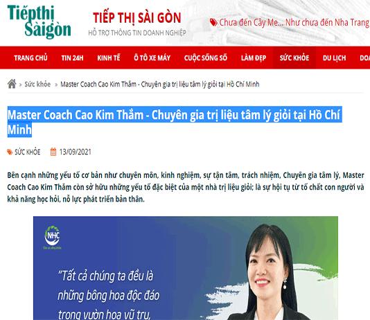 [Tiếp Thị Sài Gòn] Master Coach Cao Kim Thắm - Chuyên gia trị liệu tâm lý giỏi tại Hồ Chí Minh